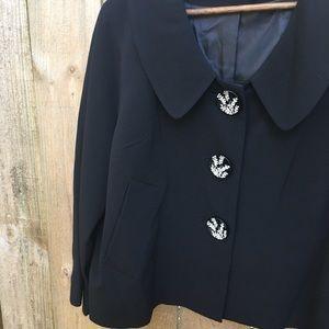 Lapis Black Retro style Swing Jacket EUC sz L